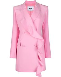 MSGM ラッフルトリム ドレス - ピンク
