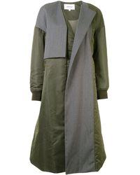 Enfold カラーブロック シングルコート - グリーン