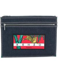 KENZO - Double Zip Clutch - Lyst