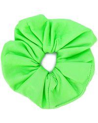 Manokhi Leather Hair Scrunchie - Green