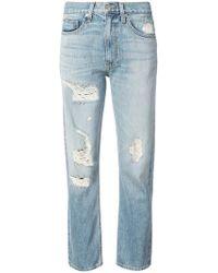 Brock Collection - Jean droit à effet usé - Lyst