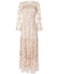 Needle & Thread Kleid mit Pailletten - Pink