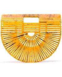 Cult Gaia Small Ark Clutch Bag - Orange