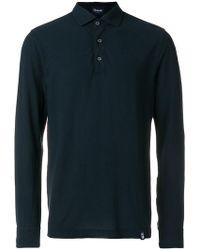 Drumohr - Longsleeved Polo Shirt - Lyst