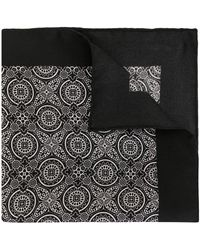 Dolce & Gabbana ジオメトリックプリント ポケットチーフ - ブラック