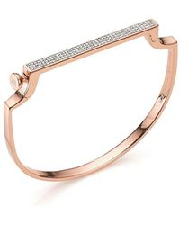 Monica Vinader Rp Signature Thin Diamond Bangle - Многоцветный