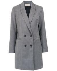 Egrey - Check Long Coat - Lyst
