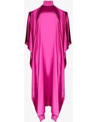 Taller Marmo La Divina オープンショルダー ドレス - ピンク