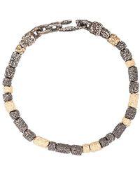 M. Cohen Armband mit Perlen - Mettallic