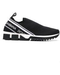 Dolce & Gabbana Zapatillas Sorrento De Malla Elástica Con Logo - Negro