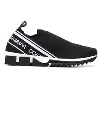 Dolce & Gabbana Sorrento Logo Sneakers - Zwart
