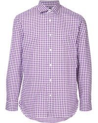 Kent & Curwen - Рубашка В Клетку Гингем - Lyst