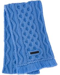 Prada Cable Knit Scarf - Blue