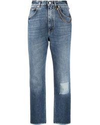 Givenchy ミッドライズ クロップドジーンズ - ブルー
