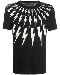Neil Barrett Thunderbolt Tシャツ - ブラック