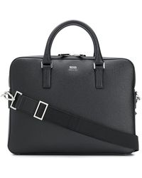 BOSS by HUGO BOSS Saffiano Laptop Bag - Black