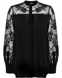 Alexander McQueen Рубашка С Прозрачными Вставками - Черный