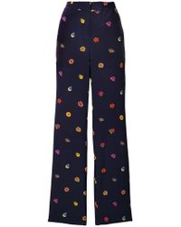 PS by Paul Smith - Printed Wide-leg Trousers - Lyst