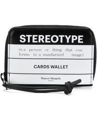 Maison Margiela Stereotype 財布 - ブラック