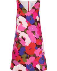 Sara Roka Floral-print Sleeveless Mini Dress - Pink