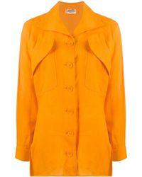 Hermès ポケット シャツ - オレンジ