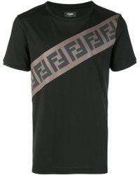Fendi - Ff Logo T-shirt - Lyst