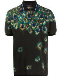 Dolce & Gabbana Рубашка Поло Из Пике С Принтом - Черный