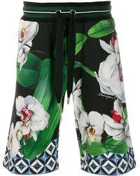 Dolce & Gabbana Bermudas con motivo floral - Verde