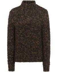 Dolce & Gabbana Джемпер Крупной Вязки С Высоким Воротником - Коричневый