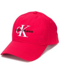 Calvin Klein Logo Baseball Cap - Red