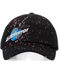 ADER error Gorra con estampado espacial - Negro