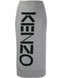 KENZO グレー スポーツ チューブ ミッドレングス スカート