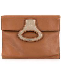 Louis Vuitton Bolso de mano portfolio con apliques de metal - Marrón