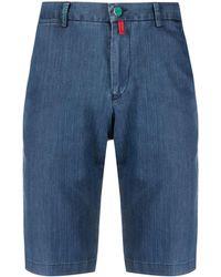 Kiton Tailored Denim Shorts - Blue