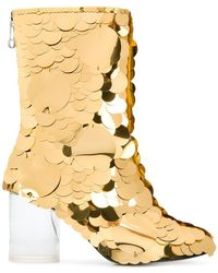 Maison Margiela - Socks Sequin Embellished Boots - Lyst