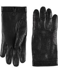Gucci Signature Gloves - Black