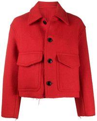 AMI Jacke mit aufgesetzten Taschen - Rot