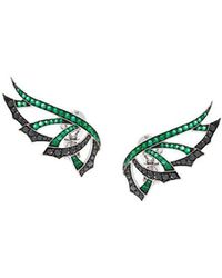Stephen Webster - 'magnipheasand' Diamond And Emerald Earrings - Lyst