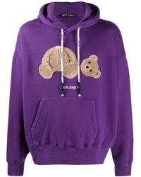 Palm Angels Худи Bear С Логотипом - Пурпурный