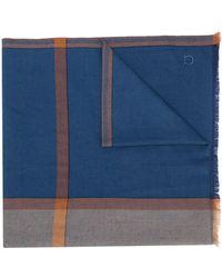 Ferragamo Sciarpa con design color-block - Blu
