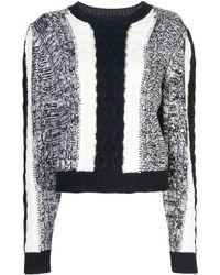 Jason Wu ケーブルニット セーター - ホワイト
