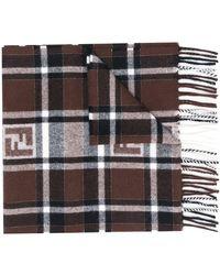 Fendi - モノグラム チェック スカーフ - Lyst