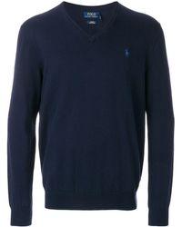 Polo Ralph Lauren Vネック セーター - ブルー
