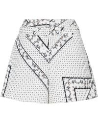 Ganni - Elkhart Quilted Belted Shorts - Lyst