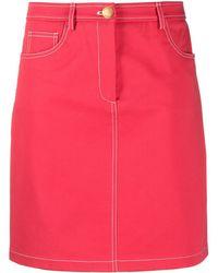 Boutique Moschino ハイウエスト デニムスカート - ピンク