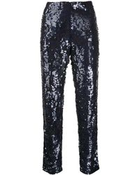 P.A.R.O.S.H. Sequined Straight-leg Trousers - Blue