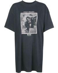 Anine Bing Harley Mohawk Tシャツワンピース - ブラック