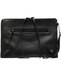 Balenciaga Большой Клатч Pouch С Нашивкой-логотипом - Черный