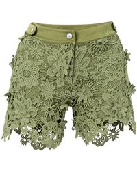 Just Cavalli - Lace Fitted Shorts - Lyst