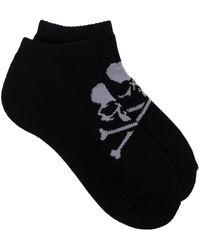 Mastermind Japan Chaussettes courtes à logo - Noir